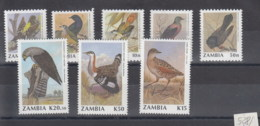 Sambia (BBK) Michel Cat.No. Mnh/** 528/535 Birds - Zambie (1965-...)