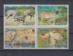 Sambia (BBK) Michel Cat.No. Mnh/** 1606/1609 Wwf - Zambie (1965-...)
