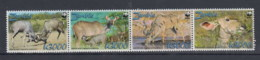 Sambia (BBK) Michel Cat.No. Mnh/** 1606/1609 Wwf Strip - Zambie (1965-...)