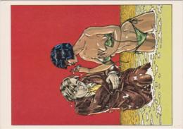 MARTIN VEYRON  - FEMME, NU,, BAIN, EROTISME, HUMOUR - CPM TBon Etat (voir Scan) - Comics