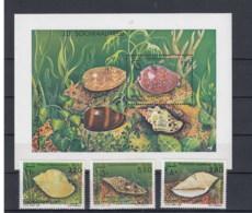Somalia (BBK) Michel Cat.No. Mnh/** 349/351 + Sheet 14 Shellls - Somalia (1960-...)