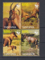 Tansania  (BBK) Michel Cat.No. Mnh/** 4433/4436 Wwf - Tanzanie (1964-...)