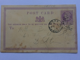 GB - Victoria Pre-paid Postcard 1870 With Bray Wicklow Ireland Postmark - 1840-1901 (Victoria)