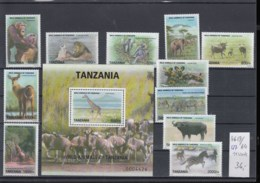 Tansania  (BBK) Michel Cat.No. Mnh/** 4654/4664 + Sheet 627 - Tanzania (1964-...)