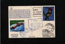 Paraguay 1974 Lufthansa First  Flight Asuncion - Sao Paulo - Paraguay