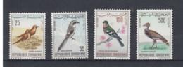 Tunesien (BBK) Michel Cat.No. Mnh/** 639/642 Birds - Tunisie (1956-...)