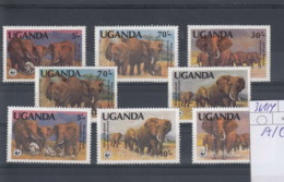 Uganda (BBK) Michel Cat.No. Mnh/** 361/364 A/C Wwf - Ouganda (1962-...)