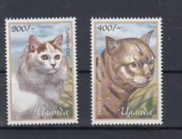 Uganda (BBK) Michel Cat.No. Mnh/** 2358/2359 Cats - Ouganda (1962-...)