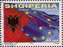 2014 Albanien Shqiperia  Mi. 3472   Used  Offizielle Beitrittskandidatur Zur Europäischen Union - European Ideas
