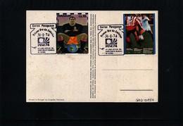Paraguay 1974 World Football Cup Germany Interesting Postcard - Fußball-Weltmeisterschaft