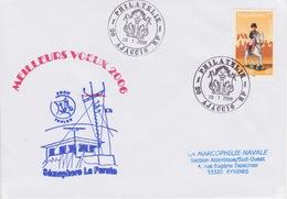 Lettre Cachet Du SEMAPHORE De La Parata 20 AJACCIO Corse Signaux Maritimes Analogue Système Télégraphie Chappe - Télécom
