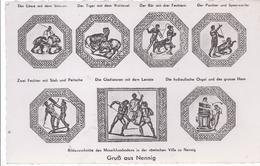 19000 - Nennig - Saar- Bildausschnitte Aus Dem Mosaikfußboden In Der Römischen Villa - Kreis Merzig-Wadern