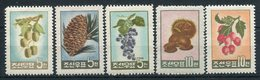 1962- KOREA -FRUITS  - 5 VAL. - M.N.H. - Korea, North