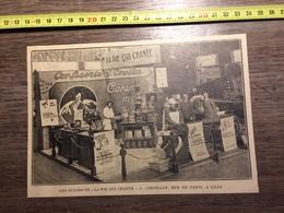 ANNEES 20/30 STANDS DE LA SOCIETE LA PIE QUI CHANTE CORNILLOT RUE DE PARIS LILLE - Collections