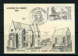 FRANCE- Carte Postale De ARGENTAN (orne)- Journée Du Timbre 26 Février 1983- Y&T N°2258 - Journée Du Timbre