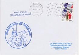 Lettre Cachet Du SEMAPHORE Du Dramont 83 St Raphael Var Signaux Maritimes Analogue Système Télégraphie Chappe - Télécom