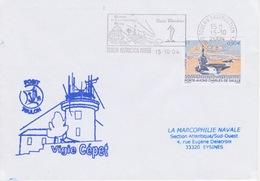 Lettre Cachet Du SEMAPHORE De Vigie Cépet 83 Toulon Marine Var Signaux Maritimes Analogue Système Télégraphie Chappe - Télécom