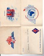 """""""DE LA PART DE L'INTENDANT MILITAIRE PERRAT"""" DE LA PREMIERE DIVISION FRANCAISE LIBRE  1946-CARTE  + 2 CARTES ECRITES - Cartes"""