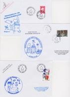 Lot 3 Lettres Cachet De SEMAPHORE De Méditerranée 83 Porquerolles + 30 Le Grau Du Roi + 06 St Jean Cap Ferrat - Télécom