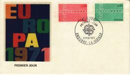 FRENCH ANDORRA  1971  EUROPA CEPT FDC - Europa-CEPT