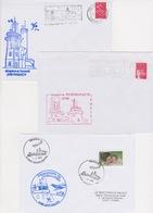 Lot 8 Lettres Cachet De SEMAPHORE Breton Bretagne Ploumanac'h Penmac'h Crozon Brest Fouesnant Cancale Plougonvelin ... - Télécom