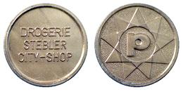 03278 GETTONE JETON TOKEN PARKING PARCHEGGIO DROGERIE STEBLER CITY SHOP PLASTIC - Germany