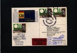 Uruguay 1974 World Football Cup Germany Lufthansa Flight Uruguay - Germany Interesting Postcard - Fußball-Weltmeisterschaft
