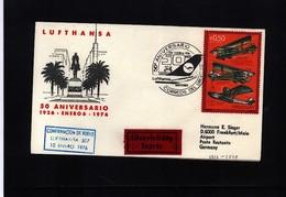 Uruguay 1976 50 Years Of Lufthansa Interesting Cover - Uruguay