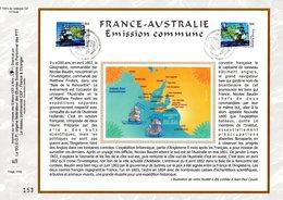 """"""" FRANCE - AUSTRALIE 2002 """" Sur Feuillet CEF 1er Jour N°té En Soie N° 1591s. N° YT 3476 3477. Parfait état. - Emissions Communes"""