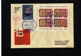 Uruguay 1972 15  Years Of Lufthansa Flights Montevideo - Frankfurt Interesting Cover - Uruguay