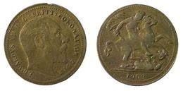 04832 GETTONE JETON TOKEN EDWARDUS VII D.G. BRITT CORONATION 1902 - Royaume-Uni