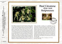 """"""" BAIGNEUSES De PAUL CEZANNE """" Sur Feuillet CEF 1er Jour N°té En Soie De 2006. N° 1816s. N° YT 3894. Parfait état. - Nus"""