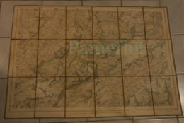 Topographischer Atlas Der Schweiz,Überdruck,1893 - Gemmi-Blümlisalp - Exkursionskarte - Maßstab 1:50000, Carte Sur Toile - Militaria