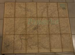 Topographischer Atlas Der Schweiz,Überdruck,1903 - ST. Gallen - Exkursionskarte - Maßstab 1:25000, Carte Sur Toile - Militaria