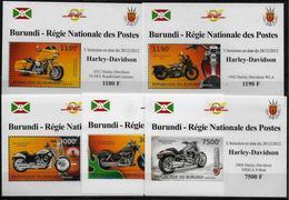 BURUNDI  Epreuve De Luxe N° 1834/37 BF 298  * *   Moto  Harley Davidson - Motos