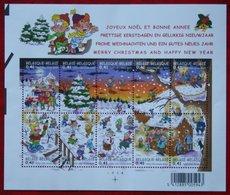 Kerst Christmas XMAS Weihnachten OBC N° 3101-3110 Bl 98 (Mi 3151-3160) 2002 POSTFRIS MNH ** BELGIE BELGIEN / BELGIUM - Ungebraucht