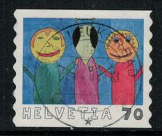 Suisse // Schweiz // Switzerland // 2000-2009 // 2000 , Dessin D'enfants, Oblitéré No.1006 - Schweiz
