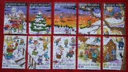 Kerst Christmas XMAS Weihnachten OBC N° 3101-3110 (Mi 3151-3160) 2002 POSTFRIS MNH ** BELGIE BELGIEN / BELGIUM - Belgien