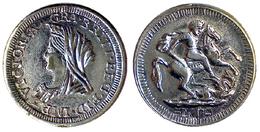 04841 GETTONE TOKEN JETON PLAY TOKEN VICTORIA REGINA REPRO GOLD SOVEREIGN - United Kingdom
