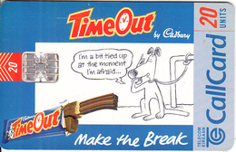 """IRELAND - Cadbury""""s TimeOut, 04/98, Used - Ireland"""