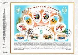 """"""" COUPE GORDON BENNETT """" Sur Feuillet CEF 1er Jour N°té En Soie De 2005. N° 1778s. N°YT BF 86 Parfait état. - Automobile"""