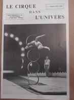 Cirque Dans L'univers Circus Circo Club Nr 1 1984 - Livres, BD, Revues