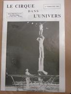 Cirque Dans L'univers Circus Circo Club Nr 2 1984 - Livres, BD, Revues