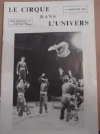 Cirque Dans L'univers Circus Circo Club Nr 3 1984 - Livres, BD, Revues