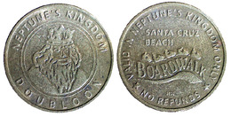 05362  GETTONE TOKEN JETON AMUSEMENT NEPTUNE'S KINGDOM SANTA CRUZ CALIFORNIA - USA