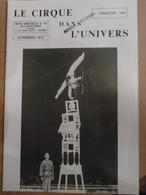 Cirque Dans L'univers Circus Circo Club Nr 4 1985 - Livres, BD, Revues