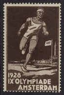 Olympic Games - Amsterdam Netherlands - 1928 - Athletics Marathon Running -  LABEL CINDERELLA VIGNETTE - MH - Summer 1928: Amsterdam