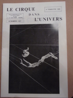 Cirque Dans L'univers Circus Circo Club Nr 4 1986 - Livres, BD, Revues