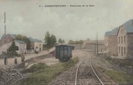 Noirefontaine , Bouillon ,panorama De Gare ( Du Tram Vicinal ) ; ( Edit L. Duparque , Florenville ) Colorisée - Bouillon