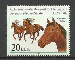Germany DDR 1989 Michel 3263 Horses Pferde MNH - Ferme